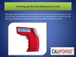 Planning out the Pizza Restaurant or Cafe