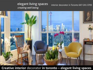 Creative interior decorator in toronto � elegant living spaces