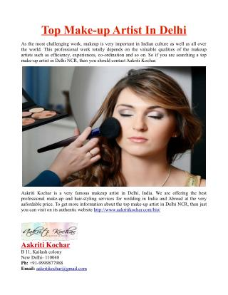 Top Make-up Artist In Delhi