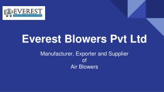 Air blowers Manufacturer