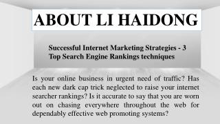Digital Marketing Services with LI haidong
