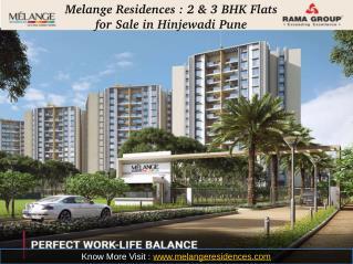 Melange Residences : 2 BHK Flats for Sale in Hinjewadi Pune