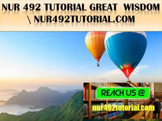 NUR 492 TUTORIAL Great  Wisdom \ nur492tutorial.com