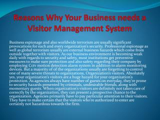 Reasons Why Your Business needs a Visitor Management System
