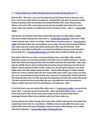 Nonton Film Cinema Bioskop201 Online Full Movie ==> http://bioskop201.site ==> http://bioskop201.info