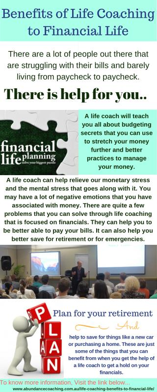 Benefits of Life Coaching to Financial Life