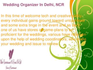 Wedding organizer in Delhi, NCR