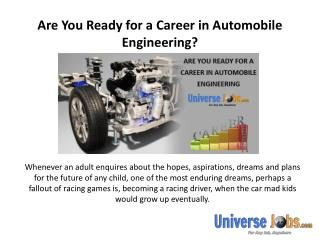 Are You Ready for a Career in Automobile Engineering?