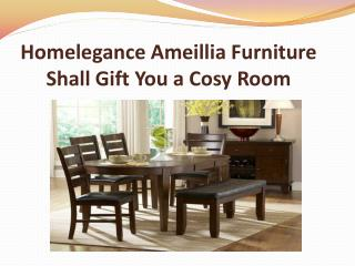 Homelegance Ameillia Furniture Shall Gift You a Cosy Room