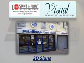 3D Signs