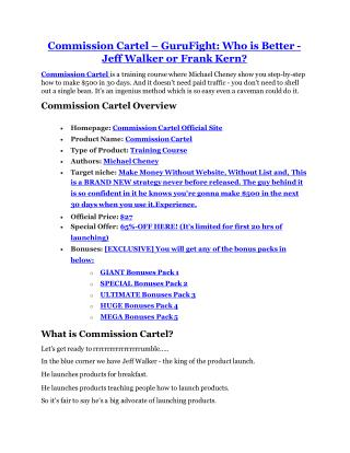 Commission Cartel review demo-- Commission Cartel FREE bonus