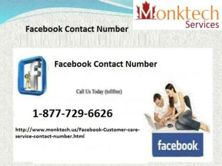 If you are in Trouble? Why Don't You Try Facebook Contact Number 1-877-729-6626?