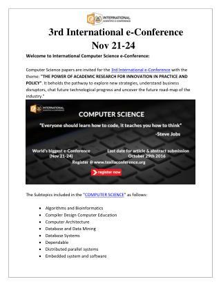 Computer science e-Conference