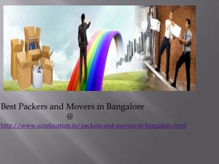 Packers and Movers in Bangalore|Easy Relocation|ezrelocation.in