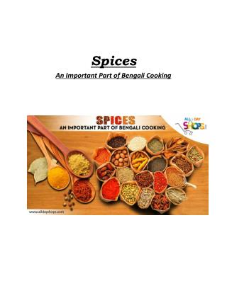 Spices : An Important Part of Bengali Cooking