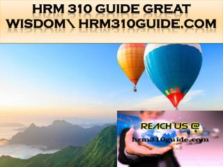 HRM 310 GUIDE Great Wisdom\ hrm310guide.com