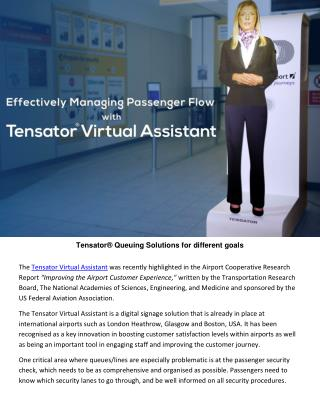 Effectively Managing Passenger Flow With Tensator Virtual Assistants