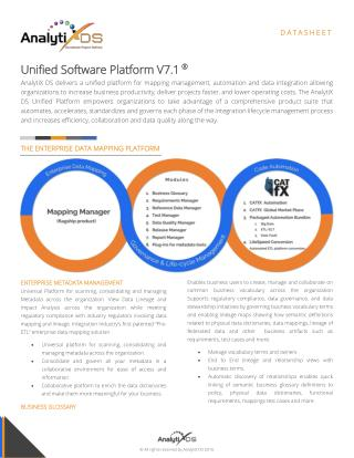 Unified Enterprise Data Mapping, Governance & Automation Platform