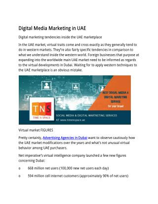 Digital Media Marketing in UAE