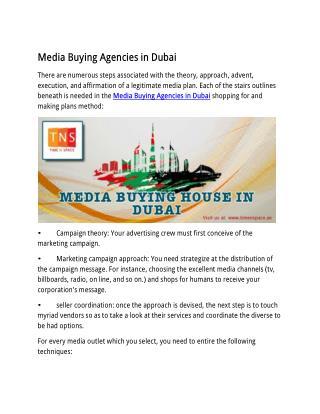 Media Buying Agencies in Dubai