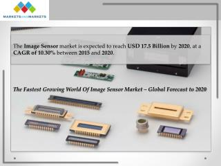 The Fastest Growing Image Sensor Market is Expected to Reach USD 17.5 Billion by 2020