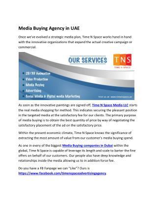 Media Buying Agency in UAE