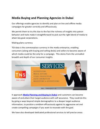 Media Buying and Planning Agencies in Dubai
