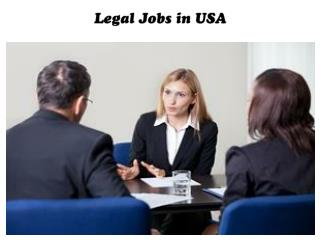 Legal Jobs in USA
