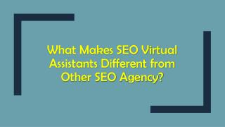 What Makes SEO Virtual Assistants Different from Other SEO Agency?
