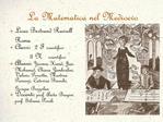 La Matematica nel Medioevo
