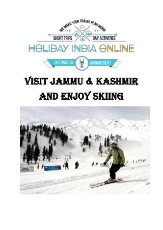 Visit Jammu & Kashmir and Enjoy Skiing