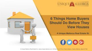 6 Things Home Buyers Should Do Before They View Houses