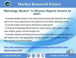 Metrology Market Research Report- Global Forecast to 2027