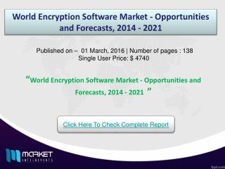 Trend of World Encryption Software Technology and Market Overview