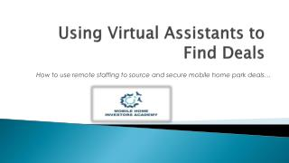 Using Virtual Assistants to Find Deals