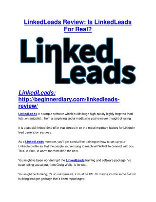 LinkedLeads reviews review in detail – LinkedLeads reviews Massive bonus