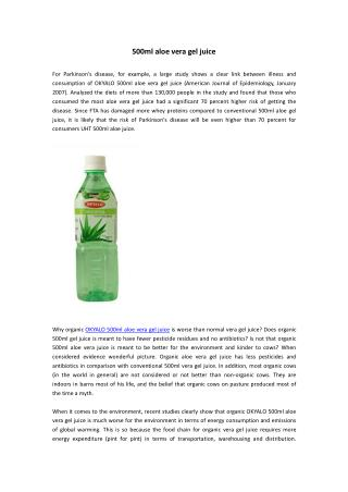 500ml aloe vera gel juice