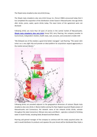 The Okyalo tasty strawberry aloe vera drink Group,