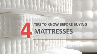 Orange County Mattress : 4 Things To Look For When Buying A Mattress