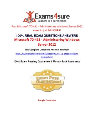 70-411 Exam Questions