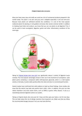 Original okyalo aloe vera juice