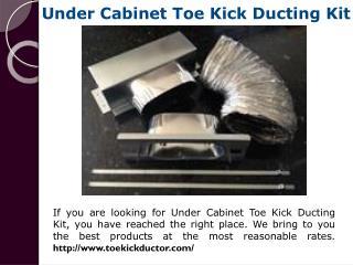 Toe Kick Heating Installation