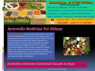 Ayurvedic medicine for kidney failure in Delhi