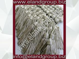 Silver Military Bullion key Tassels Supplier