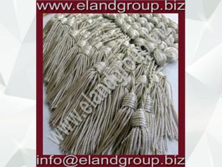 Silver Military Bullion key Tassels Supplier