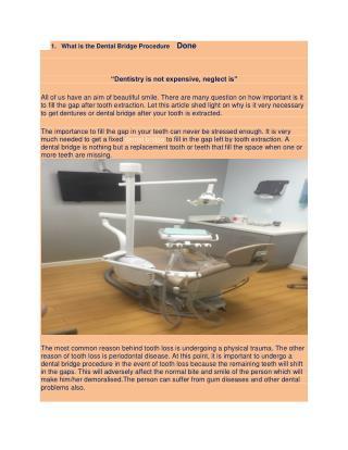 What is the Dental Bridge Procedure