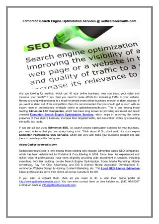 Local Seo Service Edmonton
