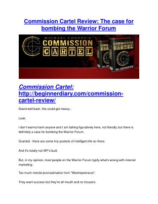 Commission Cartel Review-$9700 Bonus & 80% Discount