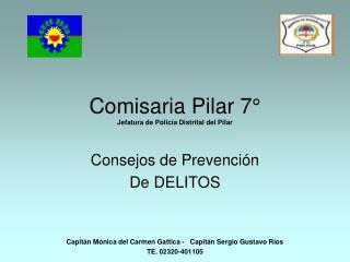 Comisaria Pilar 7  Jefatura de Polic a Distrital del Pilar