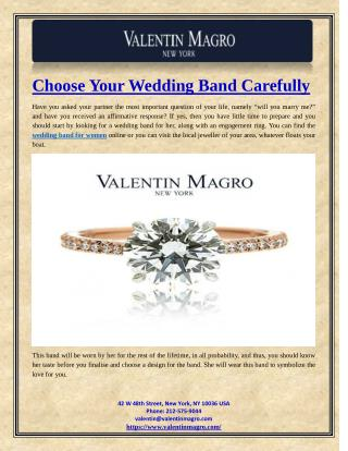 Choose Your Wedding Band Carefully